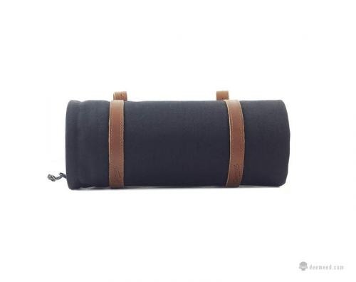 DeeMeeD Roller Cordura Gaffel/Styrväska, Svart/Brun
