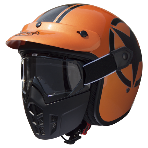 Premier Mask Star Metallic Orange