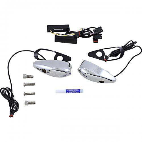 Custom Dynamics ProBeam LED Framblinkers till 15-Upp HD Road Glide, Krom