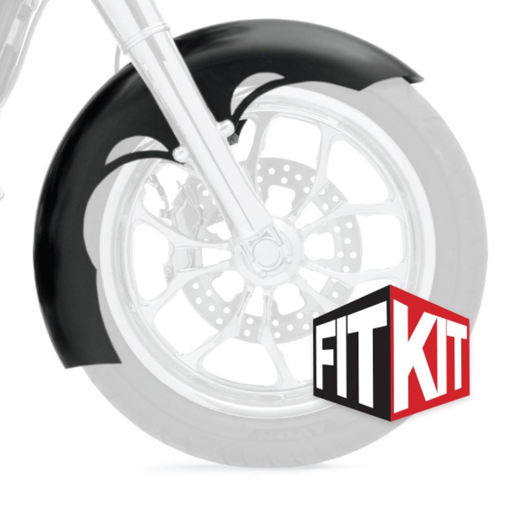 Klock Werks framskärm Tude till 2014+ FLH 16,17,19 Tum