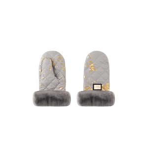 Handmuff Grey Golden Collection