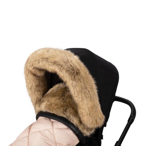 Fur collar for stroller, Nature L