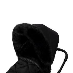 Faux Fur stroller for stroller Black S