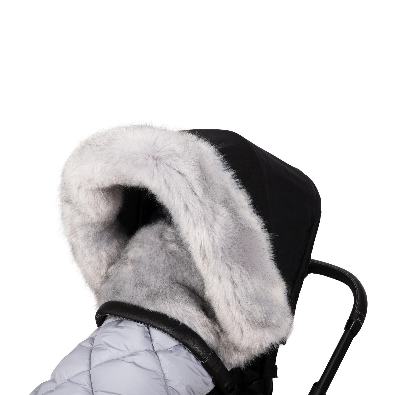 Faux Fur collar for stroller Grey S