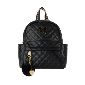 Black Quilted Back pack