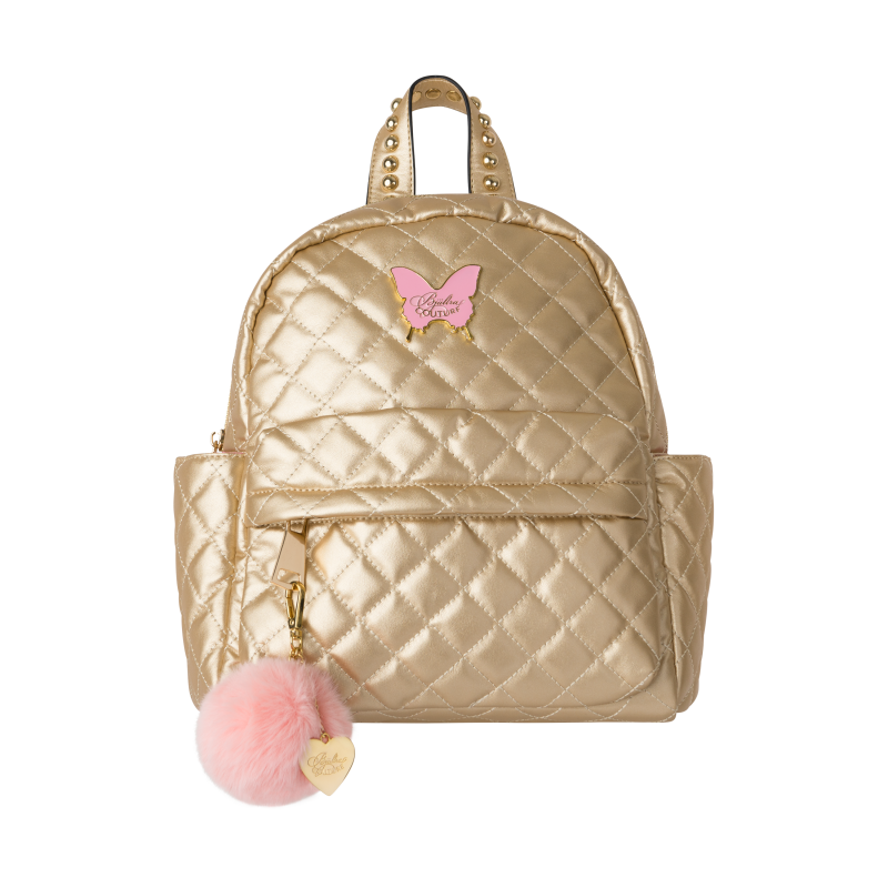 Back pack quilted gold