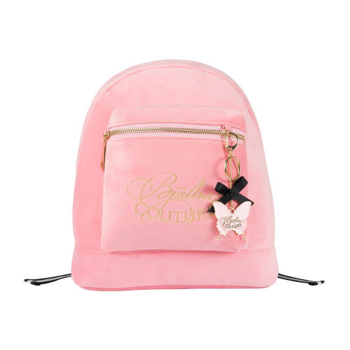Ryggsäck i rosa sammet