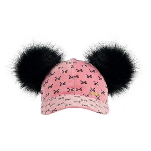 Pink Bow Velvet Cap