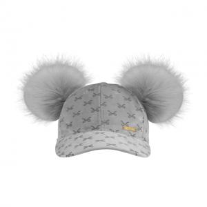Velvet Cap Grey Bow