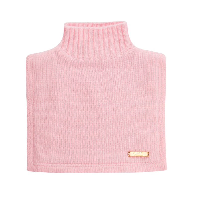 Halskrage i rosa merinoull från Bjällra of Sweden