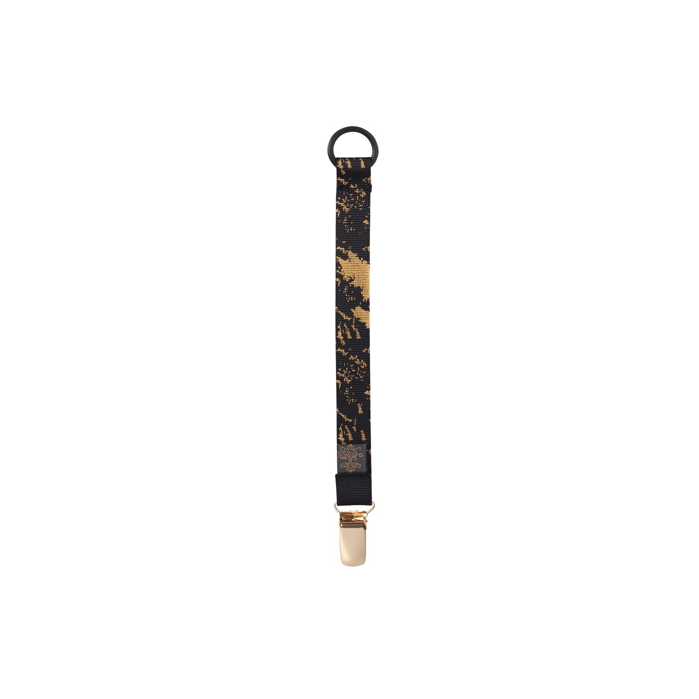 Pacifier Clip Black Golden