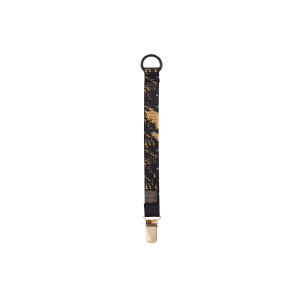 Pacifier Clip Black Golden