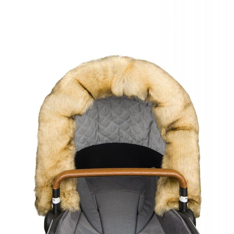 Fur collar for stroller, Nature