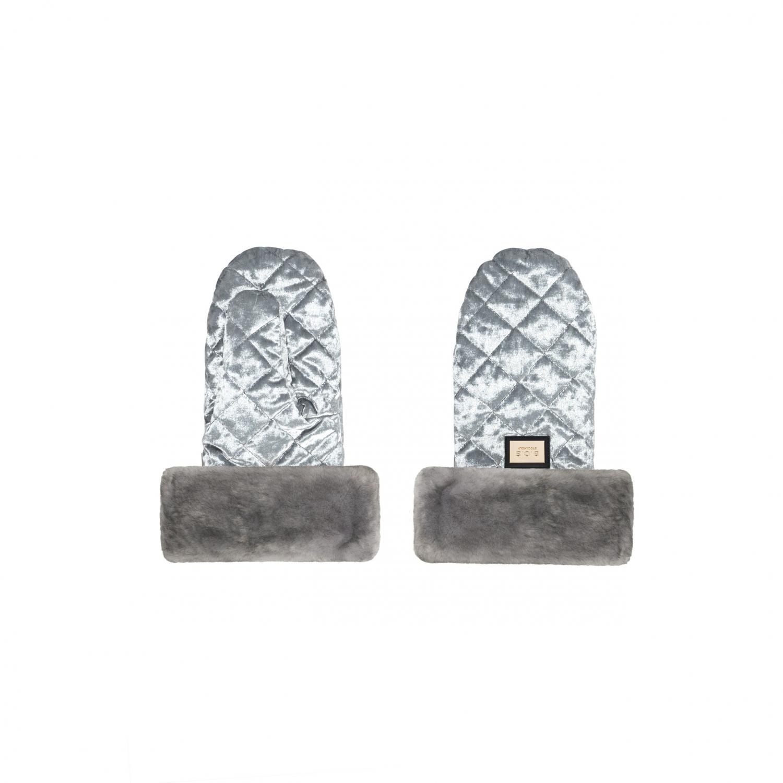 Handmuffs, Grey Velvet