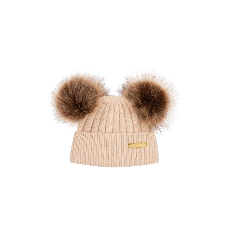 Winter Hat 0-6 mon Beige