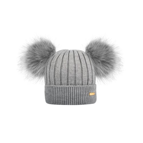 Knitted winter hat Grey