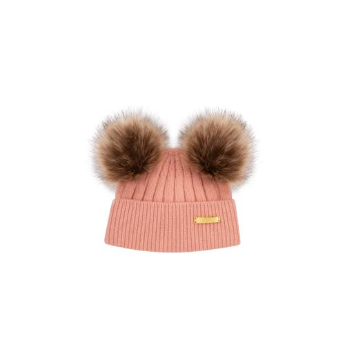 Winter hat 0-6 mon Pink