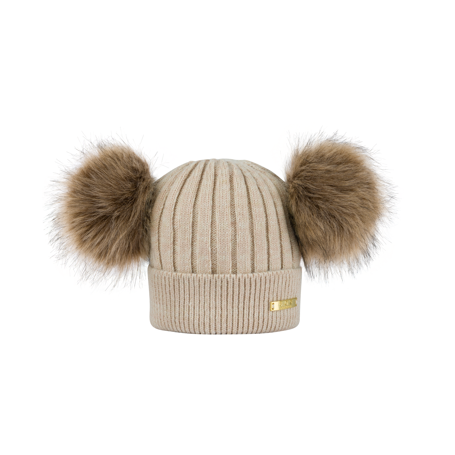 Knitted winter hat Beige