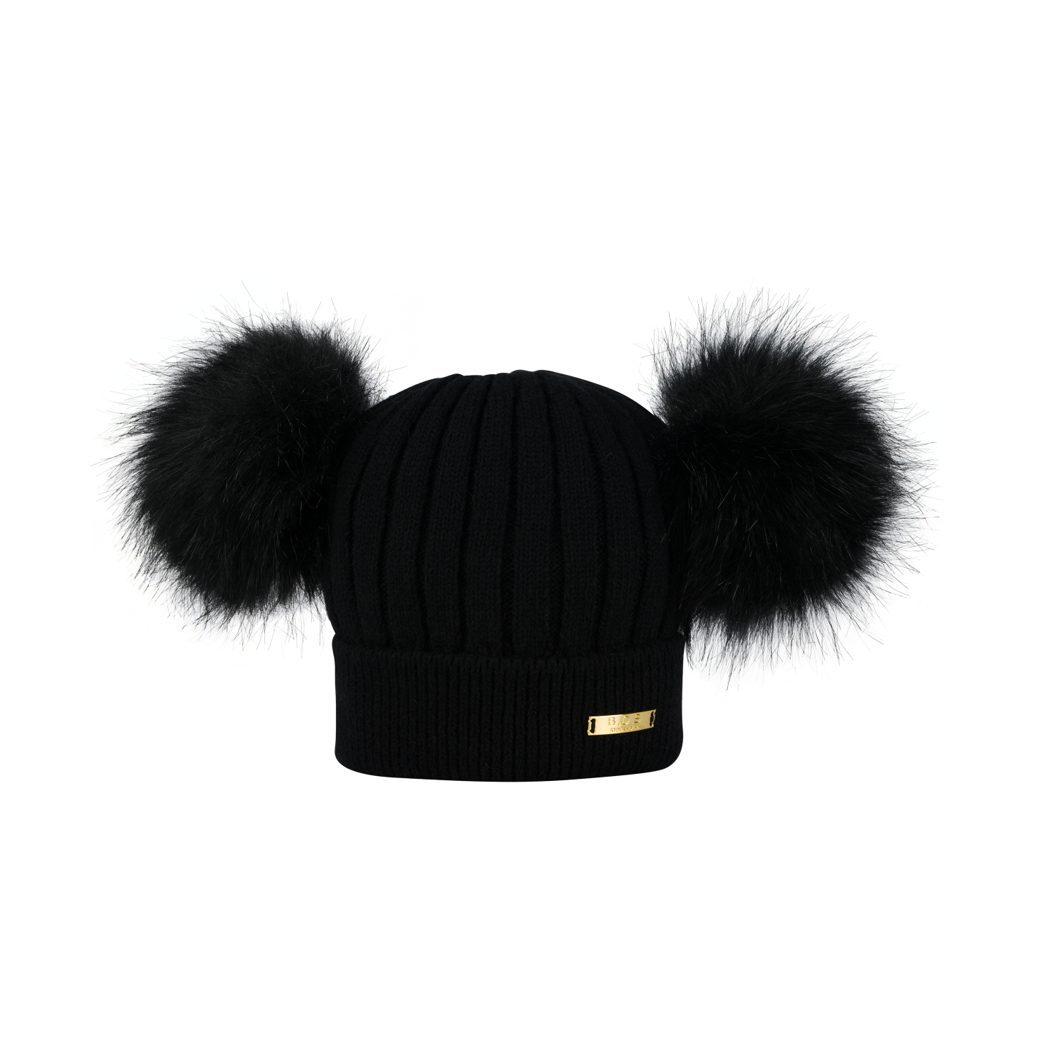 Knitted winter hat Black