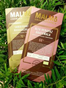 Mörk vegan choklad från Malmö Chokladfabrik