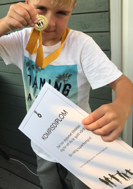Kompisdubbeln - diplom & medalj