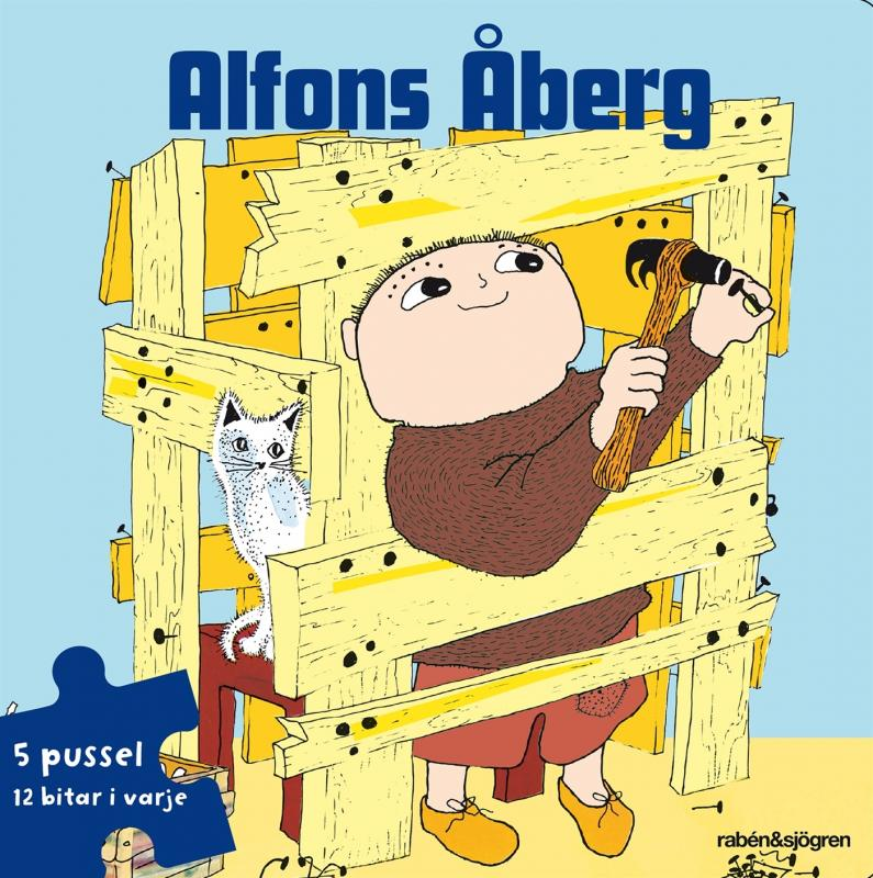 Alfons Åberg Pusselbok : 5 pussel med 12 bitar i varje