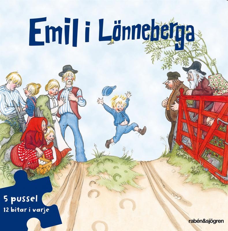Emil i Lönneberga Pusselbok : 5 pussel med 12 bitar i varje
