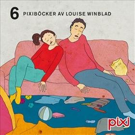 "Pixibox: Louise Winblad : 6 pixiböcker med ""Hej hej vardag""."