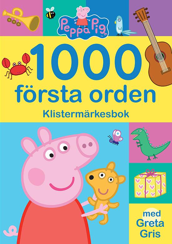 1000 första orden klistermärkesbok med Greta Gris