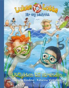 Lukas och Lotta lär sig badvett – utflykten till stranden