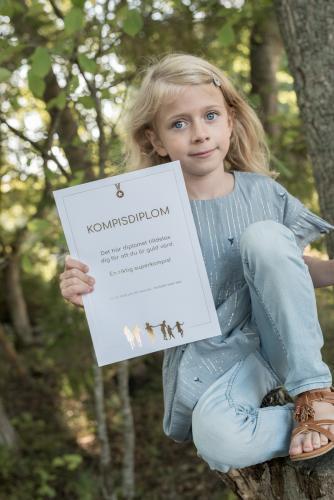 Kompisdiplom med guldtext