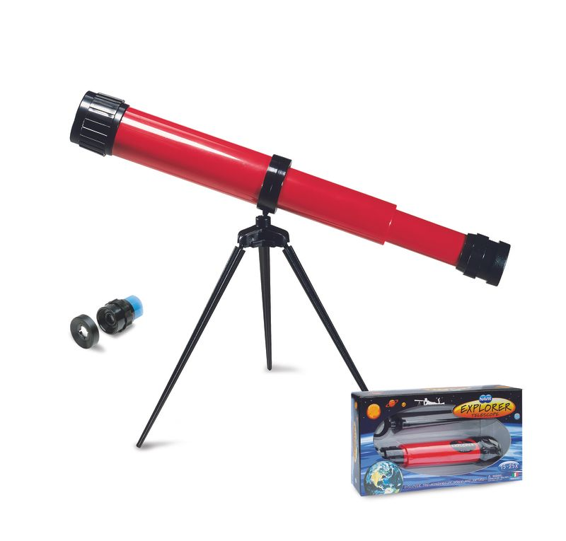 Teleskop med stativ