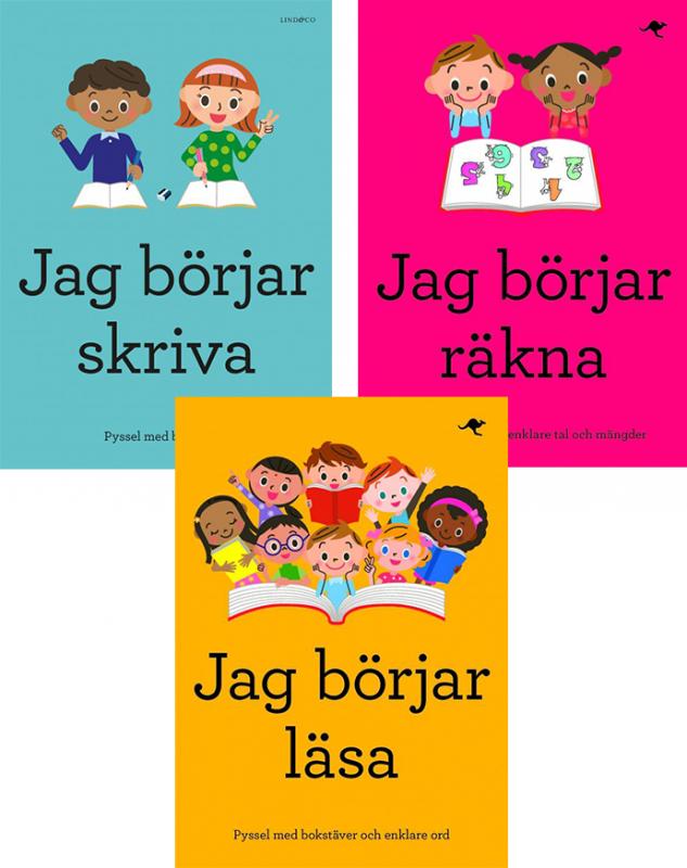 Lär dig skriva, läsa och räkna med roliga pysselböcker