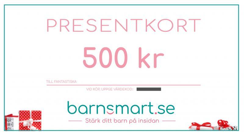 Presentkort, 500 kr