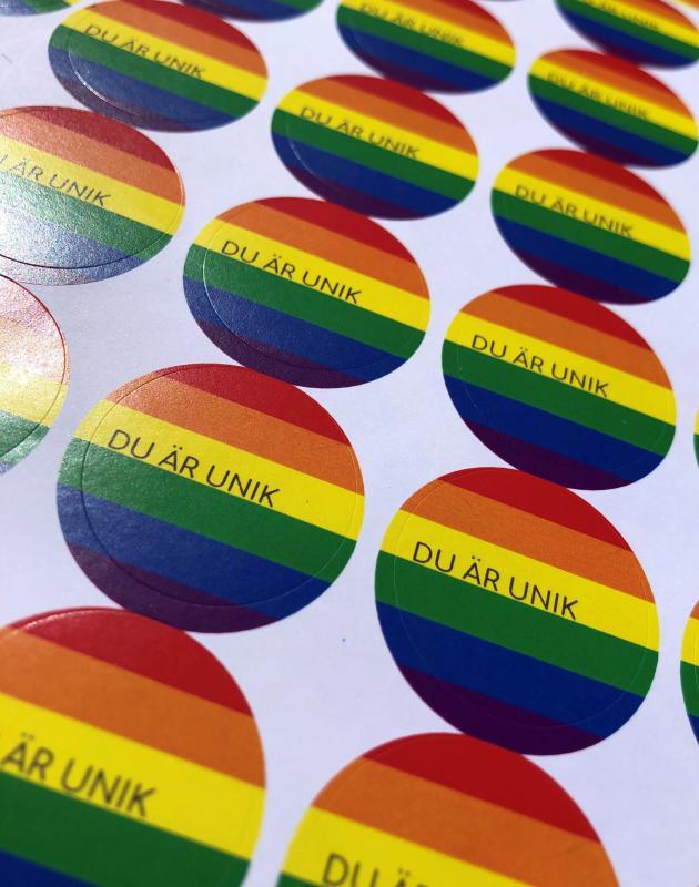 Klistermärken - Pride/Du är unik