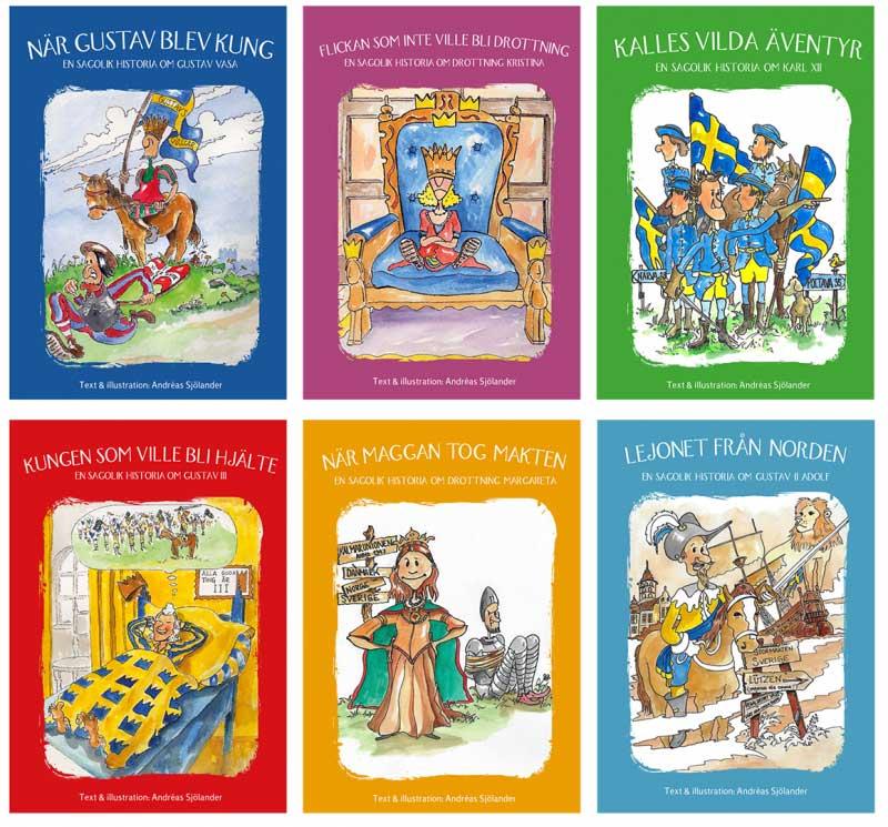 Sagor om svensk historia - Sagolikt paket, 6 böcker