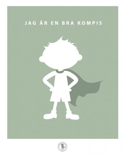 Poster - kompis (grön)