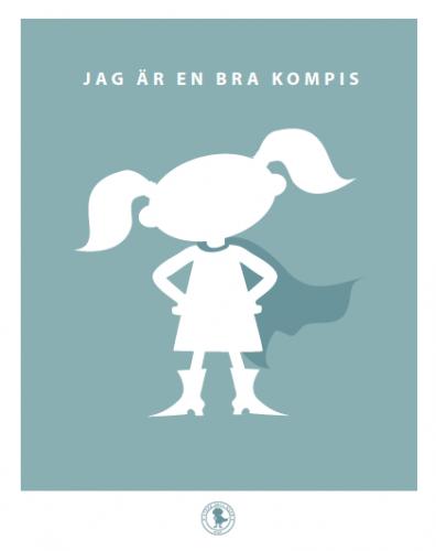 Poster - kompis (tofsar, blå)
