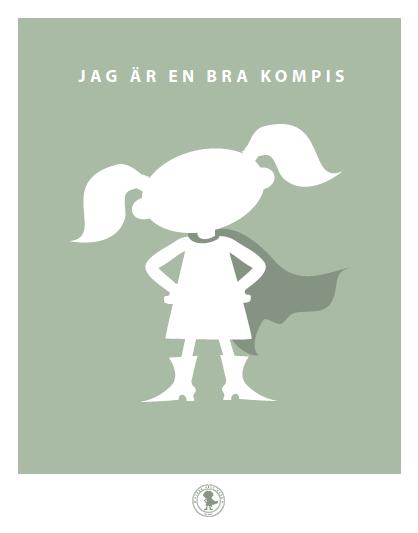 Poster - kompis (tofsar, grön)