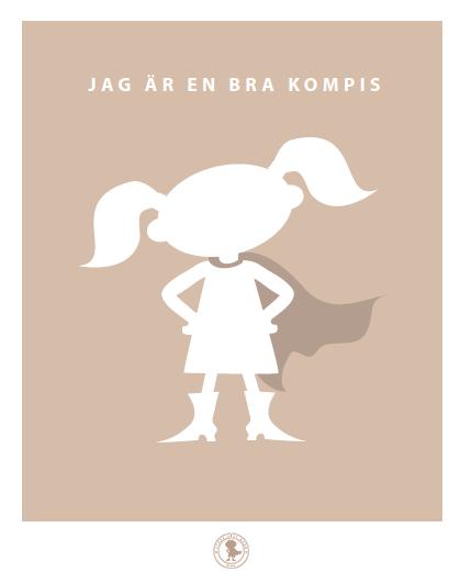 Poster - kompis (tofsar, beige)