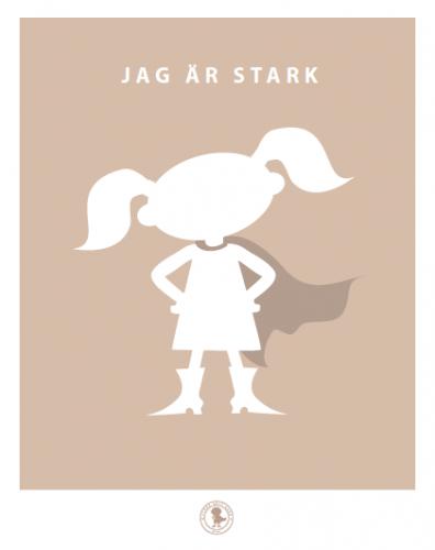 Poster - stark (beige, tofsar)