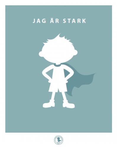 Poster - stark (blå)