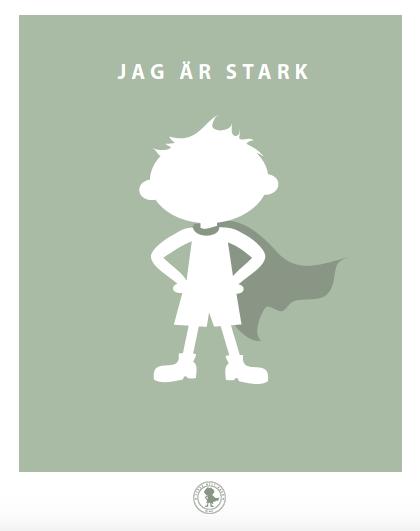 Poster - stark (grön)