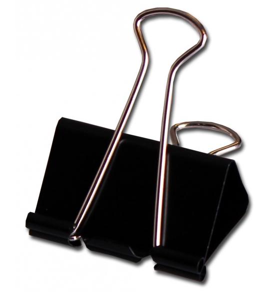 4-pack stora clips (svart)