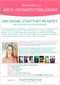 Biljetter till föreläsning - Caroline Engvall