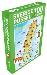 Sverige Pussel 100 bitar : Med djur