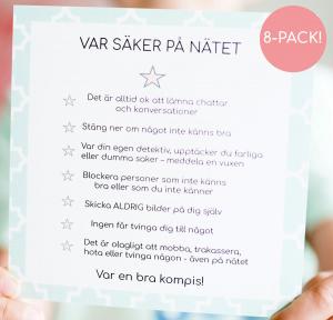 8-pack kort 'säker på nätet'