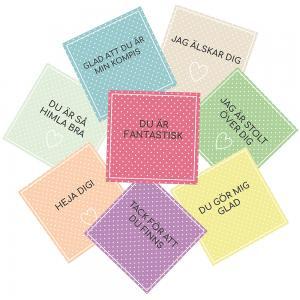 Peppande vykort/små tavlor