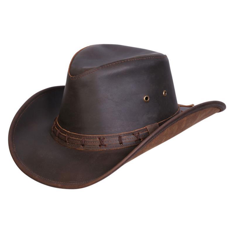 High Sierra Shapeable Leather Hat Men