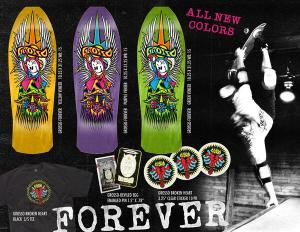 """Black Label GROSSO """"FOREVER"""" 1989 reissue Green Stain 10.25"""" x 31.25"""" 15"""" WB"""
